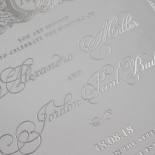 Royal Lace with Foil Invitation