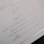 Royal Lace with Foil Invitation Card