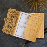 Royal Lace with Foil Invitation Card Design