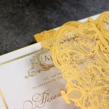 Royal Lace with Foil Invitation Design