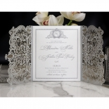Royal Lace with Foil Wedding Invitation Card