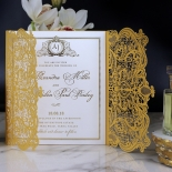 Royal Lace with Foil Wedding Card