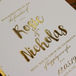 Rusted Charm Wedding Invite Card Design