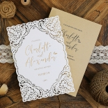 Rustic Elegance Wedding Invite Card