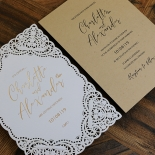 Rustic Elegance Wedding Invite