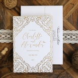 Rustic Elegance Wedding Card