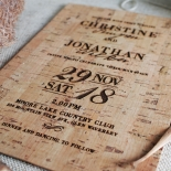 Rustic Love Notes Wedding Invite Card