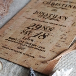 Rustic Love Notes Invitation Design