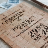 Rustic Love Notes Wedding Invitation Design