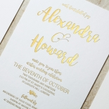Rustic Lustre Invite Card Design