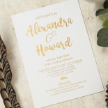 Rustic Lustre Wedding Invitation
