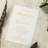 Rustic Lustre Invitation