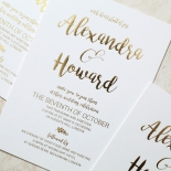 Rustic Lustre Invitation Card