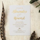 Rustic Lustre Invitation Card Design