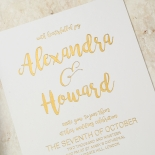 Rustic Lustre Wedding Invitation Card