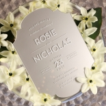 Silver Chic Charm Acrylic Invitation Design