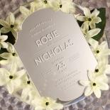 Silver Chic Charm Acrylic Invitation Design