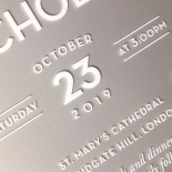 Silver Chic Charm Acrylic Wedding Invitation Design