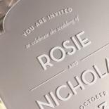 Silver Chic Charm Acrylic Wedding Invitation Card Design