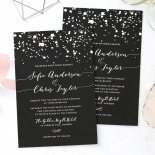 Star Dust Invite Design