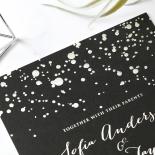 Star Dust Wedding Card Design