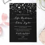 Star Dust Wedding Invitation
