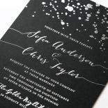 Star Dust Wedding Invite Design