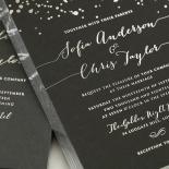 Star Dust Invitation Design