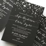 Star Dust Wedding Invitation Card Design