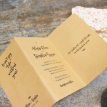 Sweetly Rustic Wedding Invite Card
