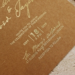 Timber Imprint Wedding Invite Card
