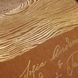 Timber Imprint Invite Card Design