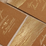 Timber Imprint Wedding Invite