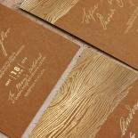 Timber Imprint Wedding Invite