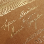 Timber Imprint Invite Card
