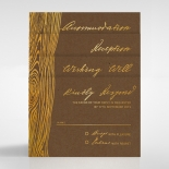 Timber Imprint Invitation Card Design