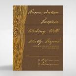 Timber Imprint Invitation Card Design