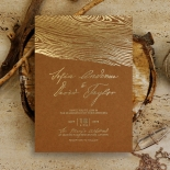 Timber Imprint Wedding Invitation Card