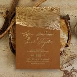 Timber Imprint Wedding Invitation Card