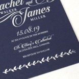 Unbroken Romance Wedding Invitation Card