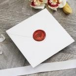 Unique Grey Pocket with Regal Stamp Invite Card Design