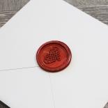 Unique Grey Pocket with Regal Stamp Card Design