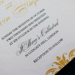 Victorian Extravagance with Foil Card Design