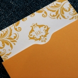 Victorian Extravagance with Foil Wedding Invitation Card