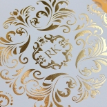 Victorian Extravagance with Foil Wedding Card