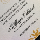 Vintage Prestige Wedding Invite Card