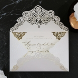 Vintage Prestige with Foil Wedding Invite Card