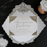 Vintage Prestige with Foil Wedding Invite