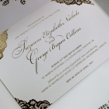 Vintage Prestige with Foil Wedding Invitation Card