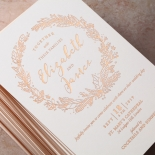 Whimsical Garland Invite Card